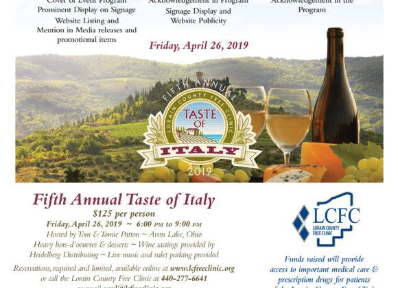 Taste of Italy Sponsor Information