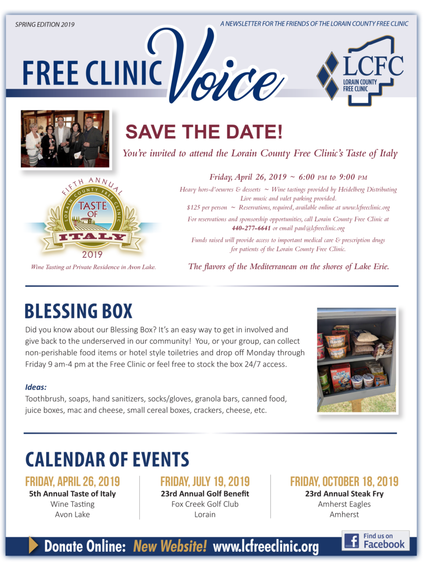 The Free Clinic Voice Newsletter: Spring 2019